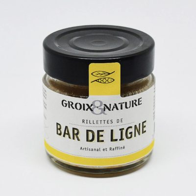 Le Fumoir de St-Cast présente les Rillettes de Bar de Ligne - Groix et Nature