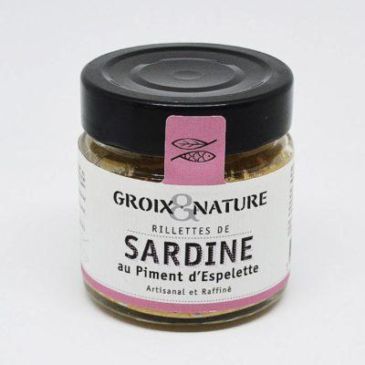 Le Fumoir de St-Cast présente les Rillettes de Sardine au piment d'Espelette- Groix et Nature