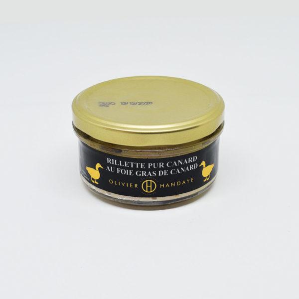 Le Fumoir de Saint-Cast présente les Rillettes Pur Canard au foie gras de canard Olivier