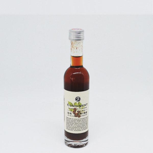 Le Fumoir de St-Cast présente le condiment au vinaigre de Pineau des Charentes et à la Pulpe de cerises des Vinaigre Le fleuriet