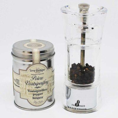 Le fumoir de St-Cast présente le Poivrier transparent - Zassenhaus et poivre - Terre Exotique