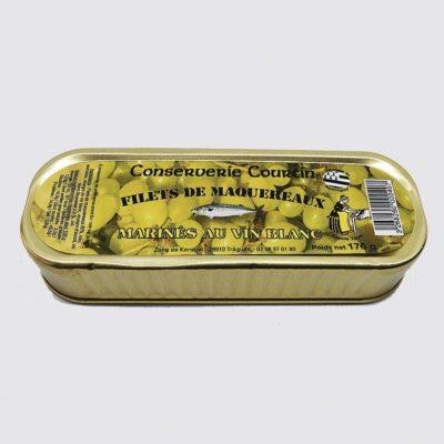 Le fumoir de St-Cast présente les Filets de Maquereaux au vin blanc - La Conserverie de Courtin