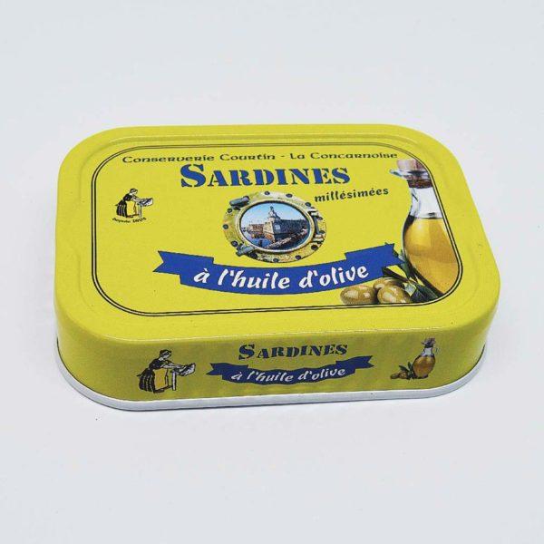 Le fumoir de St-Cast présente les Sardine Millésimées à l'huile d'olive La Conserverie de Courtin