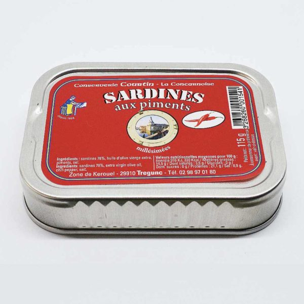 Le fumoir de St-Cast présente les Sardines Millésimées aux piments- La Conserverie de Courtin