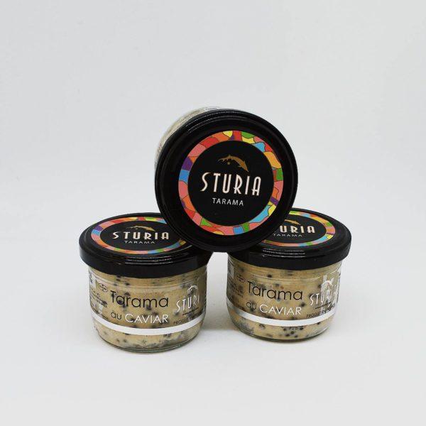 Le Fumoir de Saint-Cast présente le Trio de Tarama de Caviar - Maison Sturia