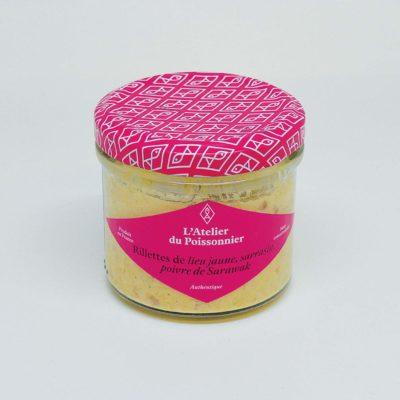 Le Fumoir de St-Cast présente les rillettes de Rillettes de lieu jaune, sarrasin, poivre de Sarawak