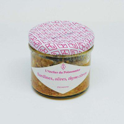 Le Fumoir de St-Cast présente les rillettes de Sardines, olives noires et thym citron