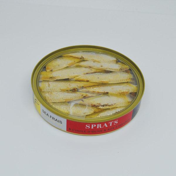 Le Fumoir de Saint-Cast vous présente les Sprats aà l'huile d'olive et aux 3 poivres