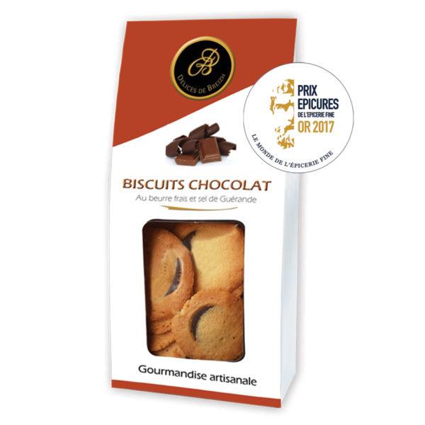 Le Fumoir de Saint- Cast présente les biscuits au Chocolat et beurre salé Délices de Breizh